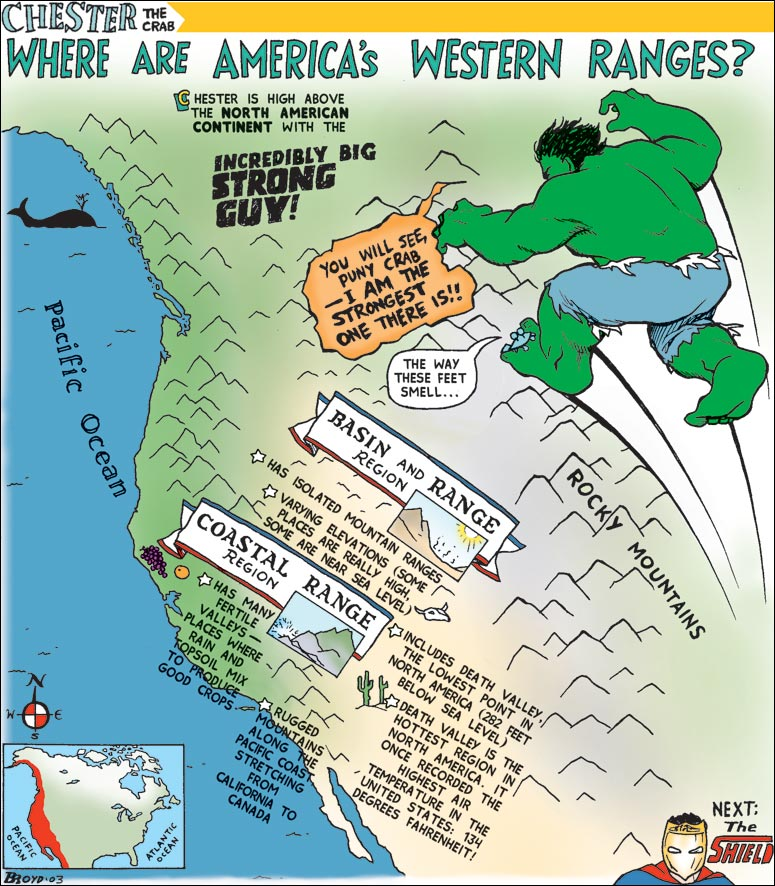 North American Geography comic